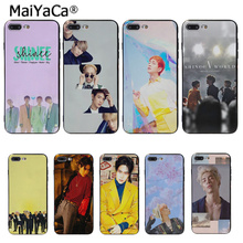 MaiYaCa SHINee KPOP Boy New Personalized Print Phone Accessories Case for Apple iPhone 8 7 6 6S Plus X XS MAX 5 5S SE XR Cover цена и фото