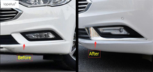 Accessories For Ford Mondeo / Fusion 2017 2018 Front Head Fog Light Foglight Lamp Decor Eyelid Eyebrow Molding Cover Kit Trim yimaautotrims auto accessory front fog lights lamp eyelid eyebrow cover trim fit for ford mondeo fusion 2017 2018