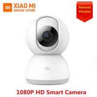 100% Original Xiaomi Mijia Cámara inteligente 1080P HD 360 ángulo de vídeo visión nocturna infrarroja de dos vías WIFI de voz cámara inteligente Vista de bebé