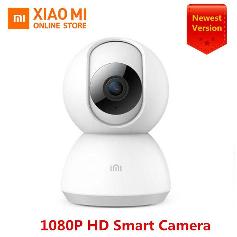 100% original xiaomi mijia câmera inteligente 1080 p hd 360 ângulo de vídeo visão noturna infravermelha two-way voz wi-fi câmera inteligente vista do bebê