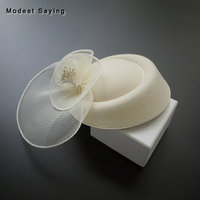 Vintage Beige Bridal Hats 2018 with Veils Bridal Headwear with Hearpin Formal Wedding Accessories Wedding Birdcage headpiece