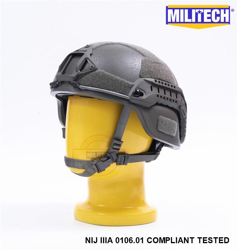 MILITECH FG MICH NIJ Level IIIA 3A Tactical Aramid Bulletproof Helmet ACH ARC OCC Dial Liner