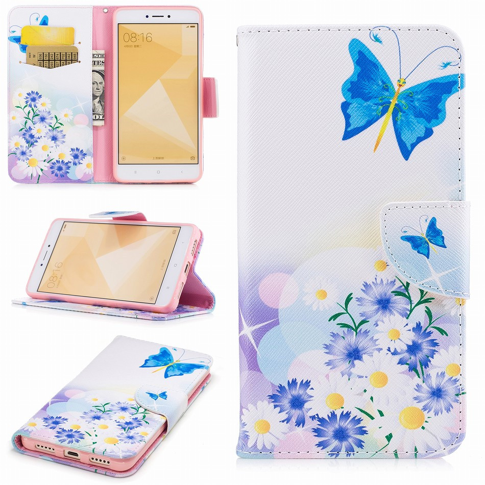 For Xiaomi 5X 6 Poco F1 A2 Lite Redmi Note 7 6 4X 5A 5 Plus Pro Fashion Wallet Case Cute Sunflower Flip Cover Bag Brand New P07Z in Flip Cases from Cellphones Telecommunications