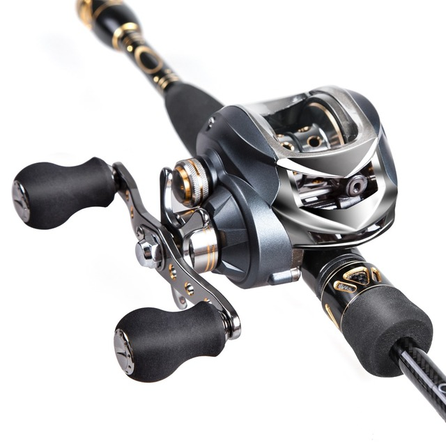 Baitcaster Rod Reel Combo 2 1m Carbon Fishing Rod And Reel M