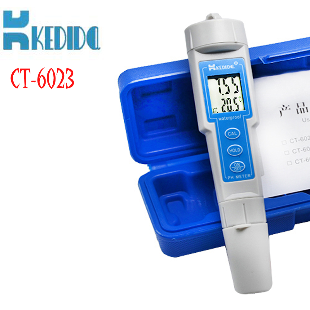 ФОТО CT-6023 Portable pH meter water pH tester high-precision pen-type PH meter water quality analyzer Laboratory tools