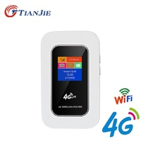TIANJIE Unlocked MINI Portable Pocket Wireless Router Mobile WiFi Hotspot 3G 4G WiFi Router with SIM Card Slot for TDD FDD WCDMA