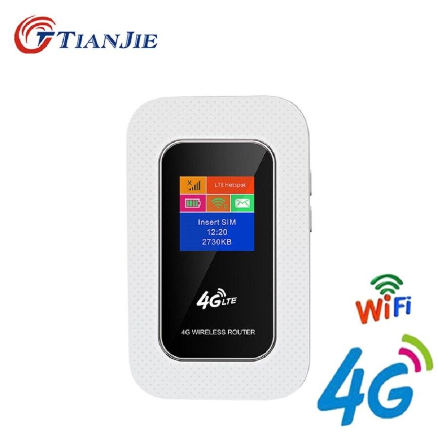 TIANJIE débloqué MINI routeur sans fil de poche Portable routeur WiFi Hotspot Mobile 3G 4G WiFi avec emplacement pour carte SIM pour TDD FDD WCDMA