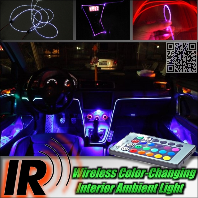 Nissan Altima Dashboard Light Guide Source · Wireless IR Control Car  Interior Ambient 16 Color Changing Light DIY