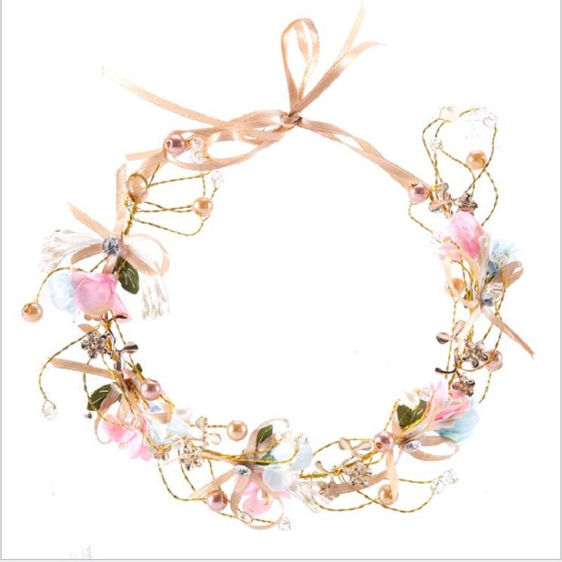 Bridal Wreath House Of Flora Handmade Bow Korean  Maid Of Honor Children Wedding Garland Bridal Jewelry