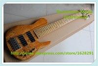 Venda quente Chinês Pescoço Através de 6 Cordas Fodera Baixo Da Guitarra Elétrica Com Hardware Cromado Para Venda