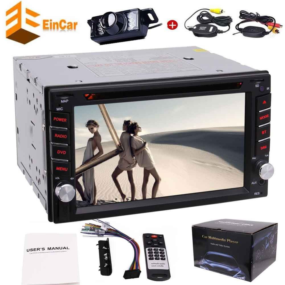 Camera+Double din car dvd player in dash headunit 6.2 autoradio car pc radio 2 din automagnitol BT,FM,AM,steering wheel control 2 din car dvd frame dashboard kits front bezel radio frame adaper dvd cover dash trim kit for kia rio 5 door rhd double din