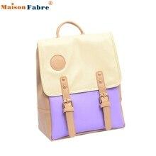 High Quality Leather Travel Shoulder Women Satchel Backpack School Bag