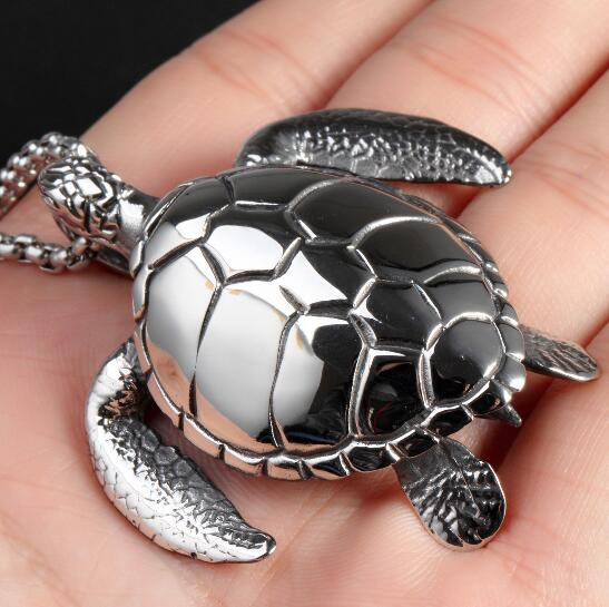 Stainless steel cool gifts mens tortoise sea turtle pendant chain stainless steel cool gifts mens tortoise sea turtle pendant chain necklace jewelry high quliaty large heavy aloadofball Image collections