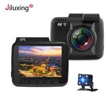 НОВАТЭК 96660 WI-FI Видеорегистраторы для автомобилей 4 К 2160 P камеры gps двух камер Ночное видение регистраторы Регистраторы регистратор приложение для IOS Android