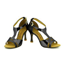 YOVE Dance Shoes PU Women's Latin/ Salsa Dance Shoes 3.5″ Flare High Heel More Color w1610-11