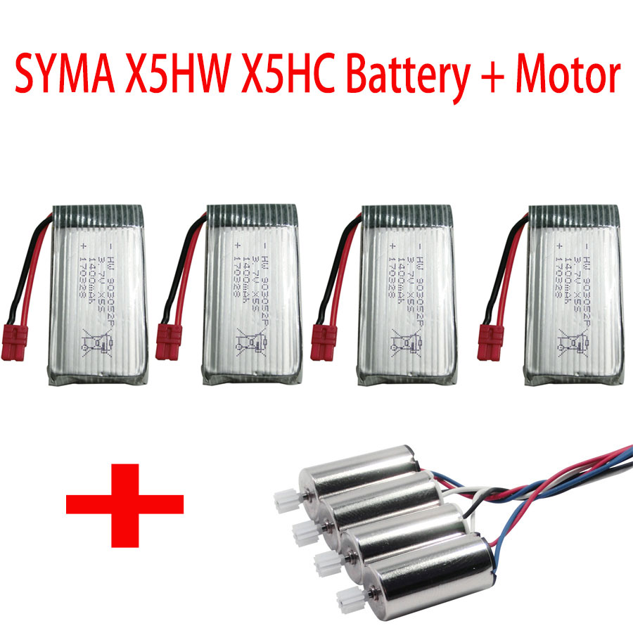 SYMA X5HW Battery And Main Motor For X5HC X5HW Remote Control Helicopter Drone Spare Parts Accessories 1400 MAH Li-po Batteries