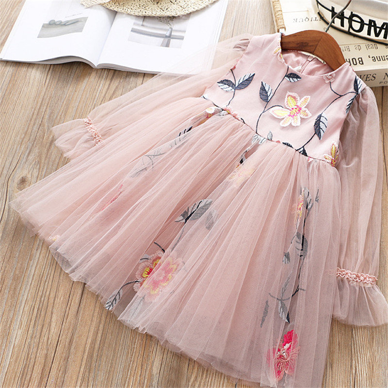 0-6 years High quality girl dress 2019 spring new fashion casual lace Chiffon flower kid children clothing girl princess dress0-6 years High quality girl dress 2019 spring new fashion casual lace Chiffon flower kid children clothing girl princess dress