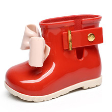 Mini Melissa 3 Color Autumn Winter Rain Boots Girls Water Shoes 2018 New Toddler Rain Boots Melissa Jelly Waterproof 11.8-18.8CM