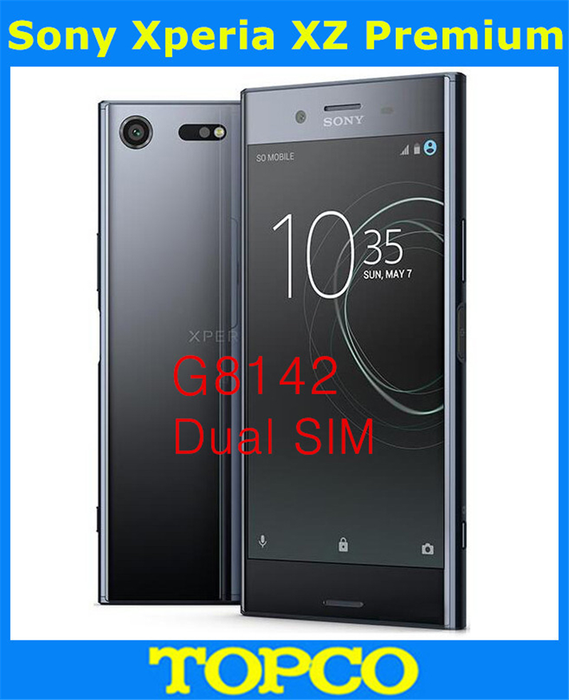 Sony Xperia XZ Premium Original Unlocked G8142 4G LTE Android Mobile Phone Octa Core Dual Sim 5.46 19MP RAM 4GB ROM 64GB WIFI