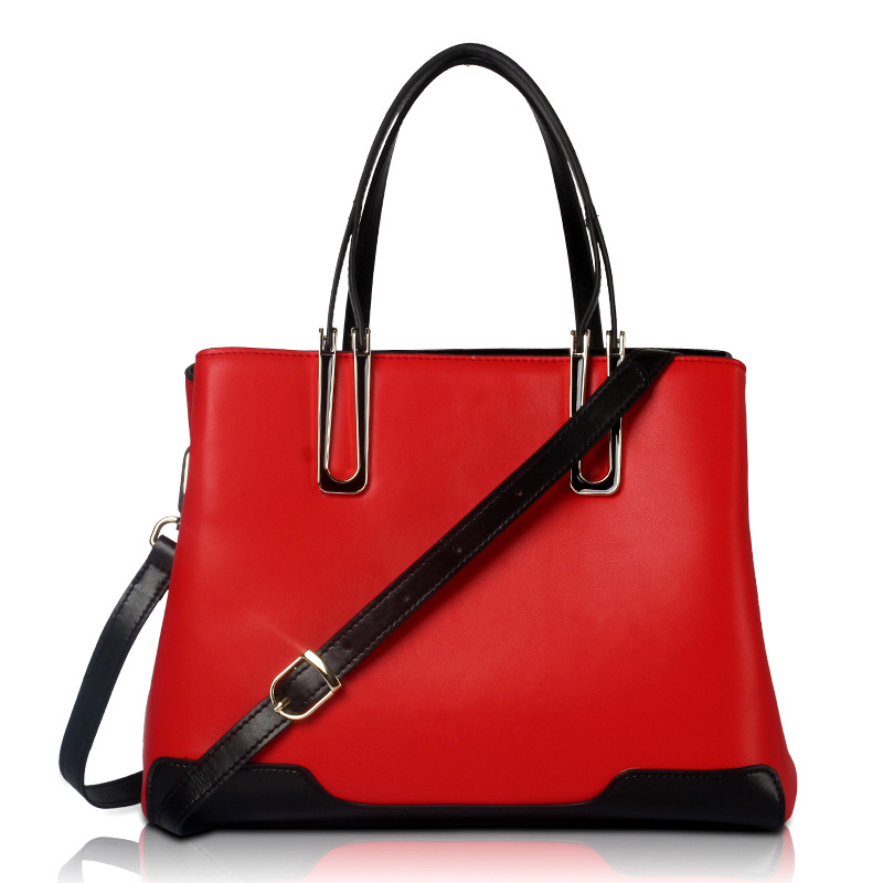 ФОТО New 2017 Fashion European and American Women Handbags Leather Criss-cross Shoulder Bag Medium Ladies Casual Tote Large Capacity