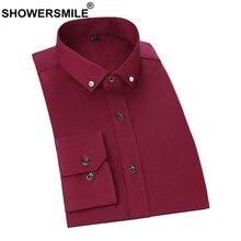45c000ff89 CHUVEIROS Homens 100% Algodão Camisa De Vestido Vermelho de Manga Comprida Camisa  Social Masculina Camisa · 6 Cores Disponíveis