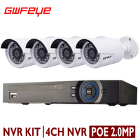 GWFEYE 8 Channel 3MP POE NVR With 4PCS Outdoor 1080P 2 0MP Full HD POE IP