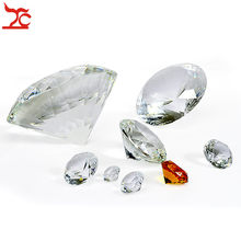 Crystal Clear Paperweight Faceted Cut Glass Giant Diamond Jewelry Decor Craft(China)
