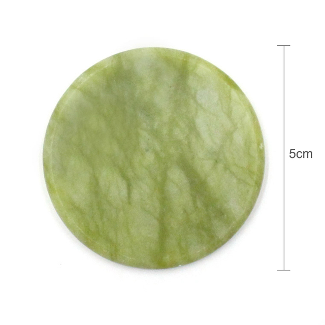 1Pcs Eyelash Extension Glue Adhesive Pallet Pad Stand Holder Unique Round Jade Stone for Fake Eye Lash Holder Tool TSLM2 1