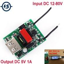 Buck Converter Stabilizer DC-DC Step Down Module 12V 24V 36V 48V 72V to 5V 1A USB Galvanic Isolated Power Supply