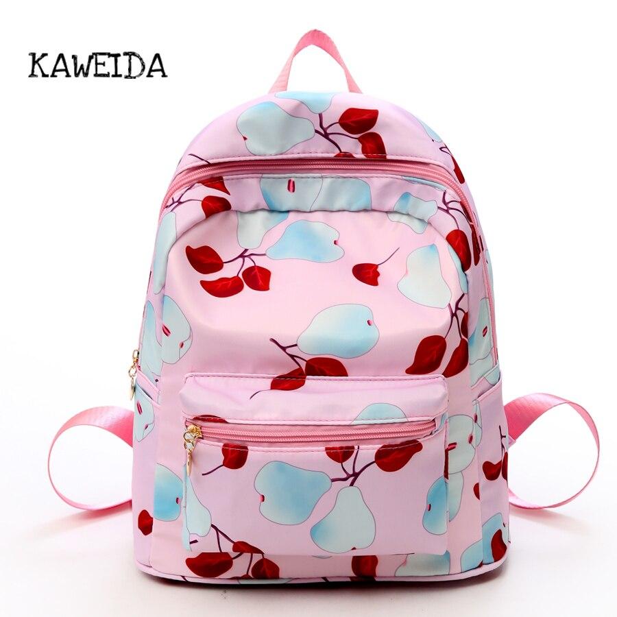 63b918ee0797 Оксфорд груша печати общага рюкзак сумка школьник Повседневная Bookbag  дизайнер плечо дорожные сумки для девочек-подростков розовый