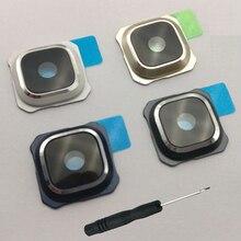 Для samsung Galaxy S6 G920 G920F Edge G925 G925F Plus G928 G928F корпус для телефона задняя крышка для камеры стеклянная крышка объектива с инструментом