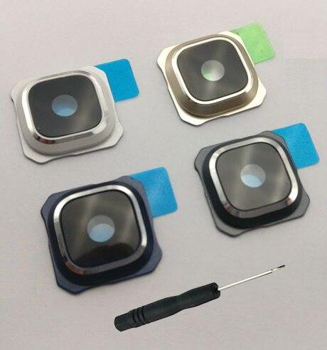 For Samsung Galaxy S6 G920 G920F Edge G925 G925F Plus G928 G928F Original Phone Housing Back Camera Glass Lens Cover With Tool