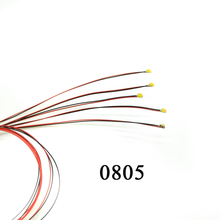 100pcs 0805 SMD  model train HO N OO scale Pre-soldered micro litz wired LED leads 20cm wires
