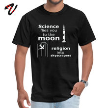Hot Sale Men T Shirts Science Vs Religion T-shirt Geek Birthday Tops TShirt Master One Piece Custom Shirt Crew Neck Tees Swag