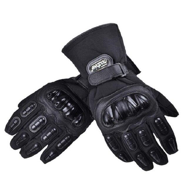 2018 Winter New Warm Waterproof MAD-BIKER Motorcyle Glove Full Finger Windproof Motorbike Gloves mitten can Touch screen 4 color