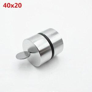 Image 2 - Magnete al neodimio 40x20 2pcs terre rare super forte potente ciclo di saldatura di ricerca permanente magnete 40*20mm gallio metallo magnete