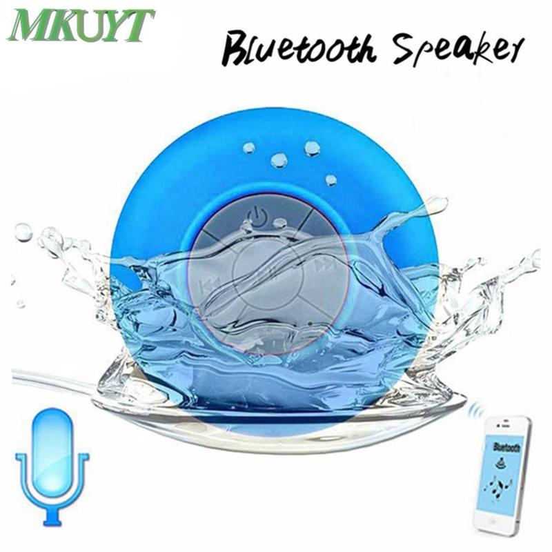 Freies Verschiffen Mini Tragbare Subwoofer Dusche Wasserdicht Wireless Bluetooth Lautsprecher Auto Freisprechen Erhalten Call Musik Saug-Mic