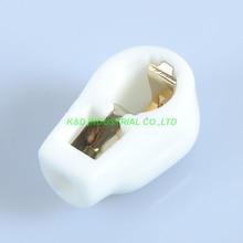 где купить 5pcs white vacuum Gold plate Grip Tube Anode Plate Caps 807 24A 310A Ceramic Socket  дешево
