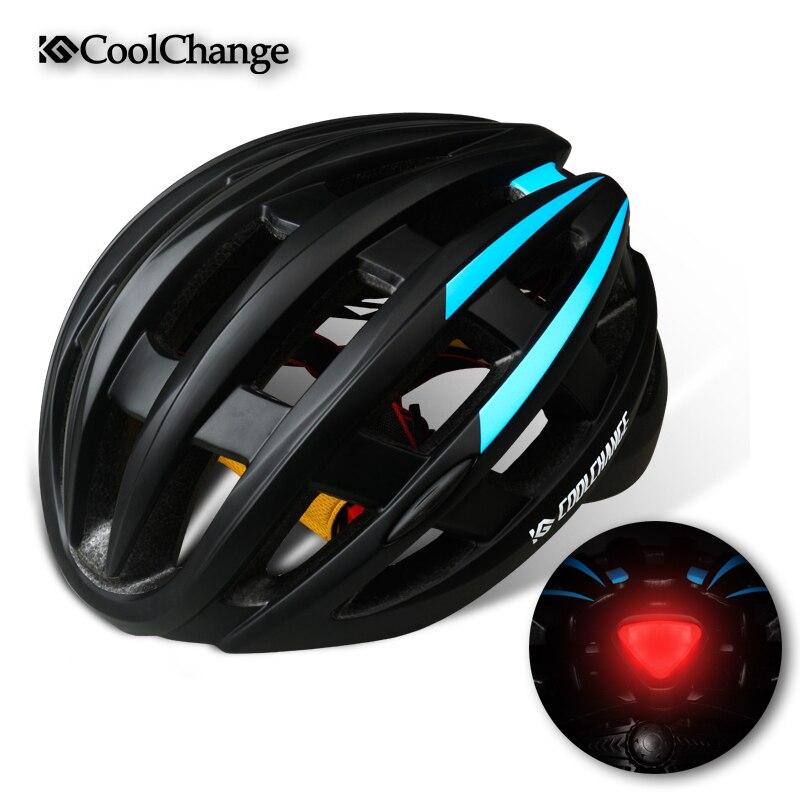 CoolChange Bike Helmet Light MTB Helmet Back Light Cykel Herre Kvinder 27 Air Ventiler Integreret Støbt Cykling Hjelm