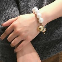 e01e7ae32d8a Las mujeres de gran perla de imitación bola pendientes pulsera colgante de  joyería de la boda