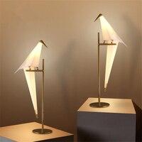 Современный творческая личность Простой Гостиная настольная лампа исследование Nordic кран птичка Спальня прикроватные Железный светодиодн