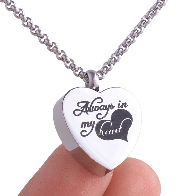 Aliexpress buy 316l stainless steel memorial cremation 316l stainless steel memorial cremation pendant necklace ashes keepsake jewelry ly016 mozeypictures Images