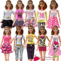 Новый бесплатная доставка 5 компл. = одежда брюки или мини-набор юбка мода техники одежда верхней одежды костюм комплект пальто для куклы барби
