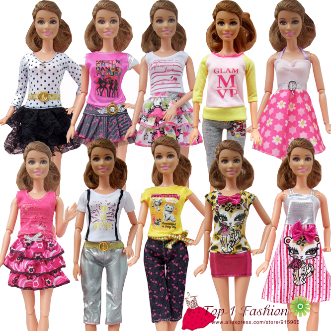 new free shipping 5sets=clothes pants or mini skirt set fashion outfit Clothes outwear suit set coat for barbie doll free shipping 5set 5 clothes 5 trousers jacket outfit pants outwear suit set coat for barbie doll dress clothes gift set