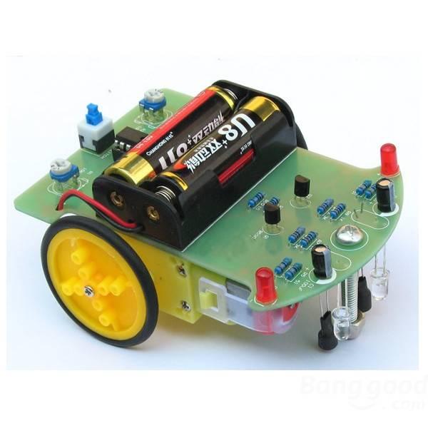 Livraison Gratuite Suivi Robot De Voiture Électronique DIY Kit Avec Réduction Moteur