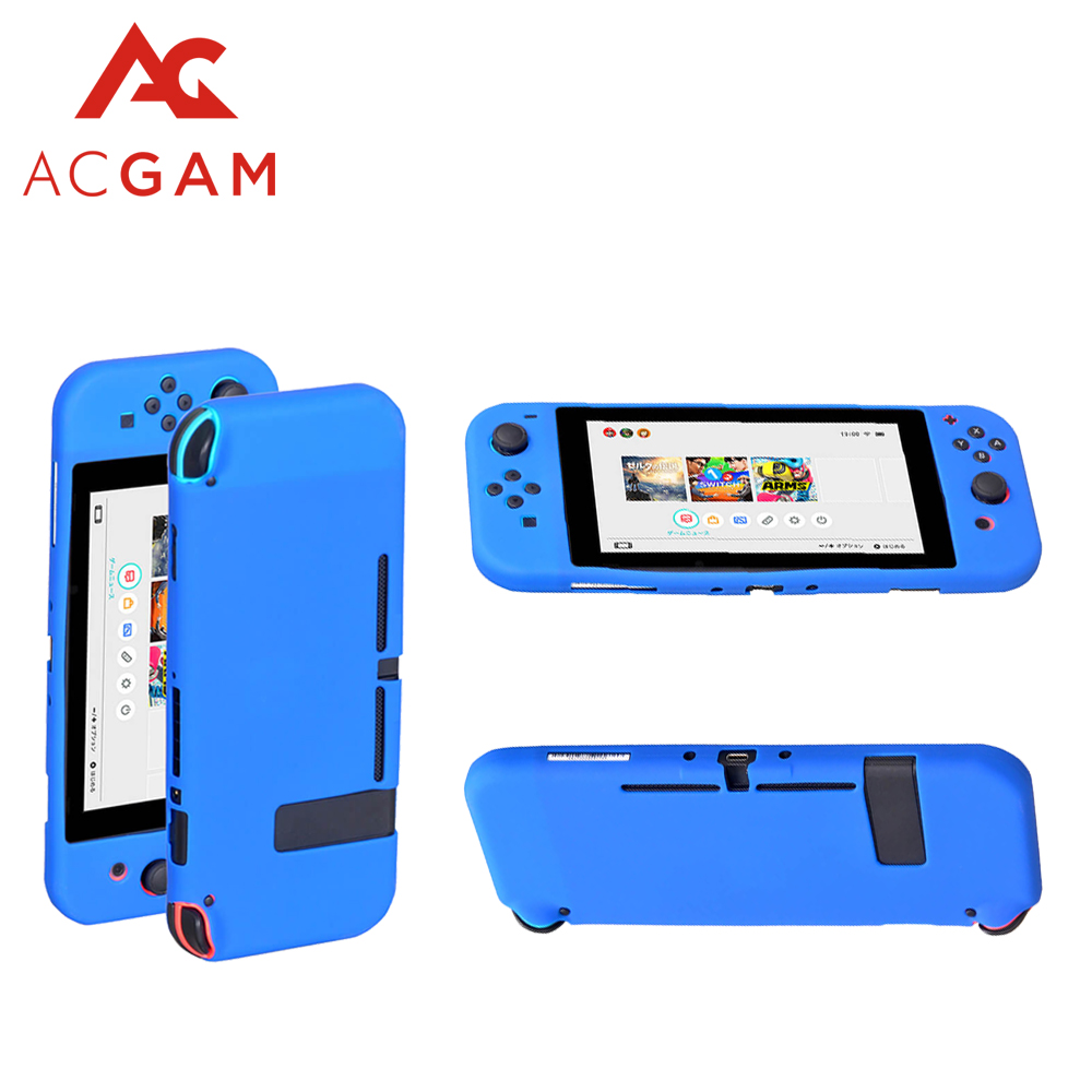 Hearty Jcd For Nintend Switch Soft Silicone Protective Skin Case+2 Thumbstick Grips Joystick Caps Cover For Nintend Switch Ns Joy Cases