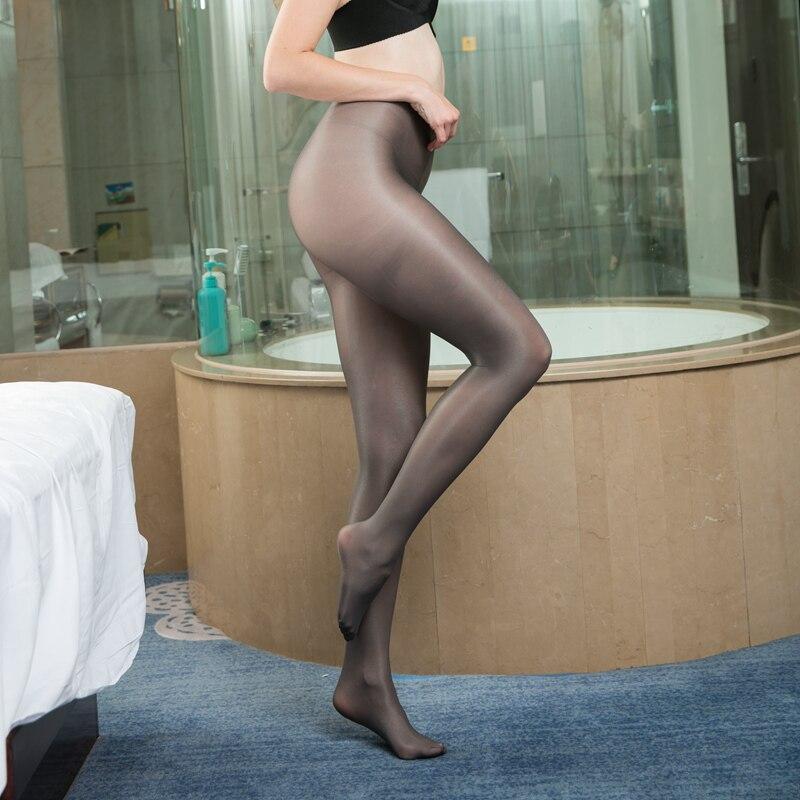 70D óleo Brilhante sólidos calças justas Das Mulheres sexy T virilha plus size brilho meia-calça feminina preto Brilhante mangueira Meias de Dança de Fitness
