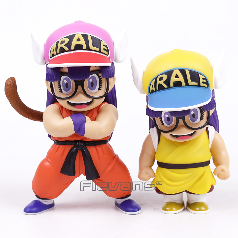 Dr Slump Arale Cosplay Dragon Ball Z Son Goku / Krillin PVC Figures Anime Cartoon Funny Toys Gifts 17~19m 2 Styles arale figure anime cartoon dr slump pvc action figure collectible model toy children kids gift 6 types