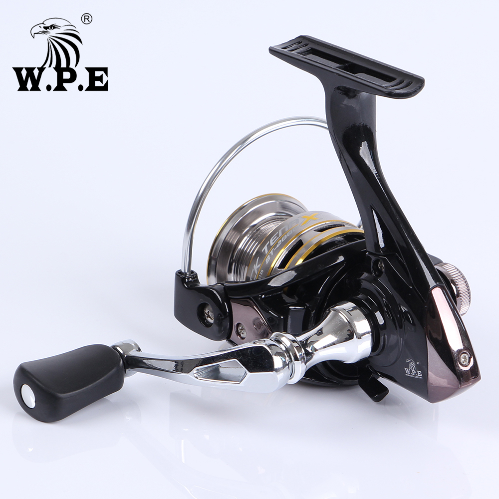 W.P.E BLACK TENA Series 5.1:1 Spinning Fishing Wheel 2000 3000 4000 5000 with 9+1 Ball Bearings 8KG Max Drag Power Fishing Reel