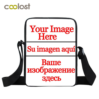 Pas Uw Logo Naam Messenger Bag Crossbody Tassen voor Meisjes Jongens Jezus Vrouwen Handtas Schedel Gothic Tas Kleine Mannen Reizen tas